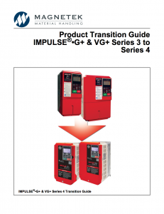 This guide provides an easy transition from the G+/VG+ Series 3 to the Series 4 drives.
