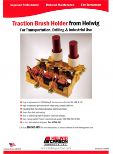 Helwig's high strength cast gun metal brush holder body, exceeds the OEM unit.