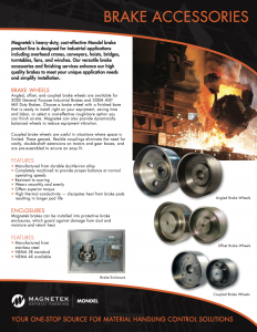Angled, offset, and coupled brake wheels are available for 200S General Purpose Industrial Brakes and 300M AIST Mill Duty Brakes.